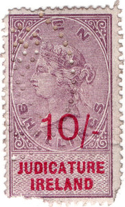 (36) 10/- Lilac & Red (1895)