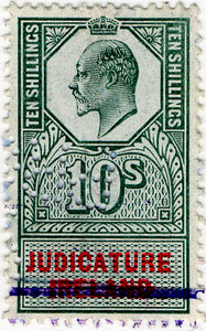 (60) 10/- Green & Red (1902)