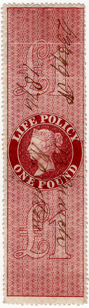 (43) £1 Red-Brown (1872)