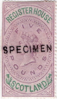 (34) £5 Lilac & Green (1882)