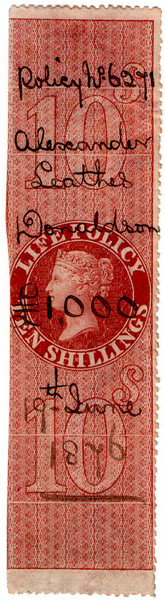 (42) 10/- Red-Brown (1872)