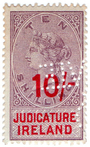 (48) 10/- Lilac & Red (1895)