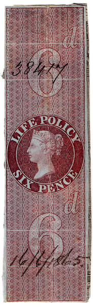 (19) 6d Red-Brown (1865)