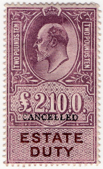 (19) £2 10/- Lilac & Brown (1907)