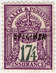(117) 17/4d Purple &Grey (1929)