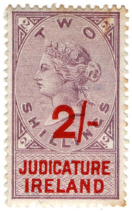 (45) 2/- Lilac & Red (1895)