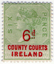 (27) 6d Green & Red (1895)