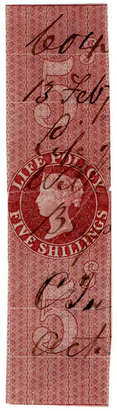(23) 5/- Red-Brown (1865)