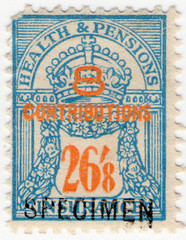 (un) 26/8d Ultramarine & Orange (1945)