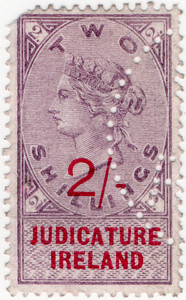 (33) 2/- Lilac & Red (1895)