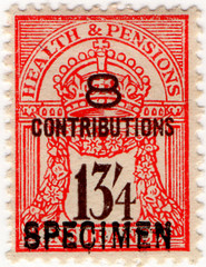 (un) 13/4d Red & Brown (1945)