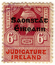 (102) 6d Claret Red & Red (1922)
