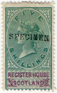 (23) 5/- Green & Purple (1879)