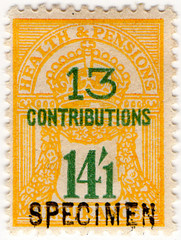 (un) 14/1d Green & Yellow (1945)