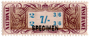 (01a) 7/- Brown & Blue (1948)