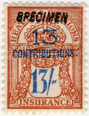 (162) 13/- Brown & Blue (1945)