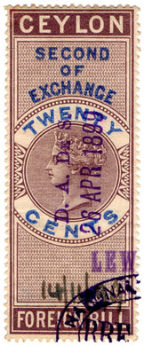 (20) 20c Purple & Blue (1874)