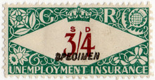 (225) 3/4d Green & Red-Brown (1939)