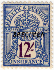 (109) 12/- Blue & Purple (1928)