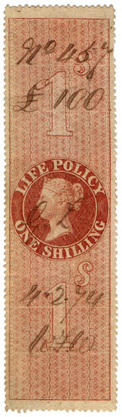 (38) 1/- Red-Brown (1872)