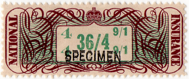 (15a) 36/4d Brown & Green (1948)