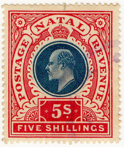 (100) 5/- Red & Blue (1902)