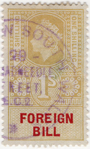 (222a) 1/- Gold & Red (1959)