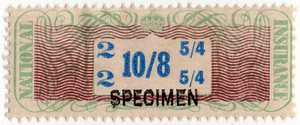 (04a) 10/8d Green. Brown & Blue (1948)