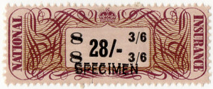 (11a) 28/- Brown, Mauve & Black (1948)