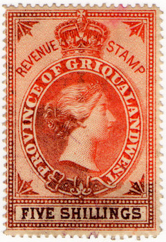 (12a) 5/- Red-Brown (1879)