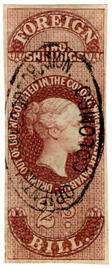 (07) 2/- Purple-Brown (1862)