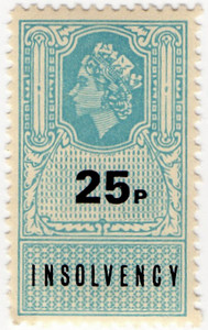(11) 25p Pale Blue & Black (1975)