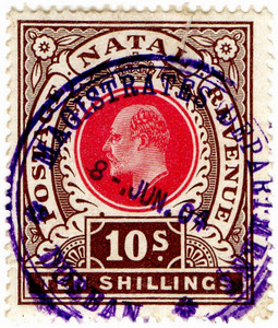 (101) 10/- Brown & Red (1902)