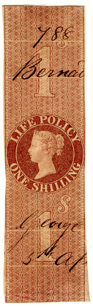(11) 1/- Red-Brown (1860)