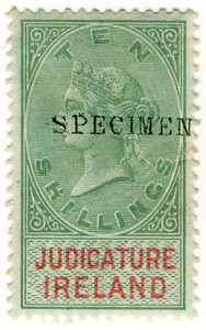 (24) 10/- Green & Red (1882)