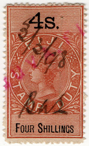 (11) 4/- Brown & Black (1883)
