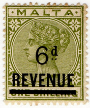 (11) 6d on 1/- Green (1901)