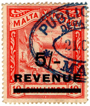 (27) 5/- on 10/- Red (1908)
