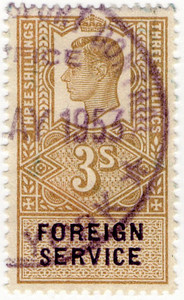 (05) 3/- Light Olive Green & Blue (1951)