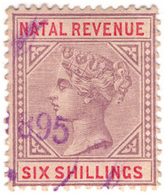 (91) 6/- Lilac & Red (1885)