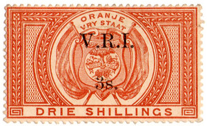 (87) 3/- Red-Brown (1900)