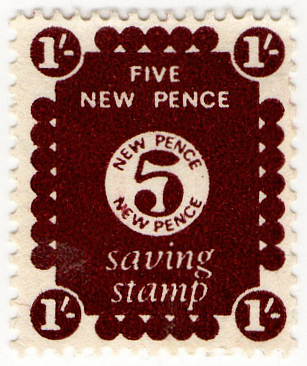 (01) 5p Dark Claret Brown (1979)