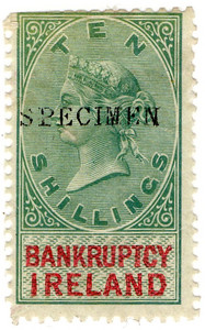 (02) 10/- Green & Red (1873)