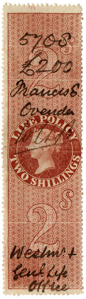 (39) 2/- Red-Brown (1872)