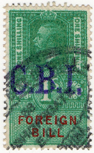 (187) 1/- Green & Red (1917)