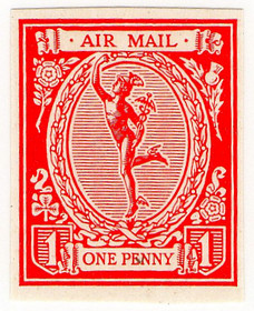 1d Red - proof  (1923)