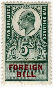 (146) 5/- Green & Brown (1907)