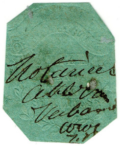 (19) 2/- Embossed on Green Paper (1856)