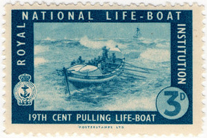 19th Cent Pulling Life-Boat