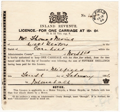 Carriage Licence